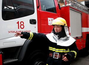 Meet Mongolian female firefighter B.Uuriintuya