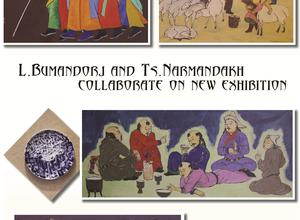L.Bumandorj and Ts.Narmandakh  collaborate on new exhibition