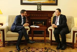 Cuban ambassador discusses cooperation with MFA representative
