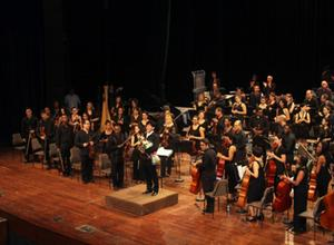 B.Lkhagvasuren conducts Cuban National Symphony Orchestra