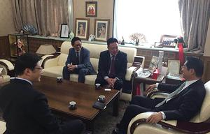 Minister M.Enkhsaikhan discusses TT power plant project with Japanese Ambassador