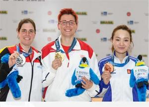 G.Nandinzaya seizes a bronze medal at ISSF World Cup