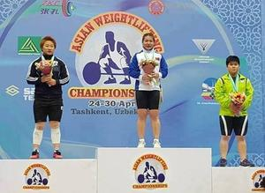 M.Ankhtsetseg becomes  Asian weightlifting  champion