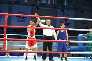 Mongolian boxer shows promising start at Asian Confederation Youth Boxing Championships