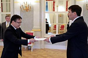 Mongolian Ambassador to Hungary presents his credentials