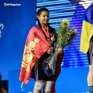 M.Ankhtsetseg talks about being a new world weightlifting champion