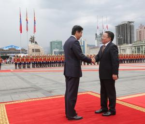 Prime Minister of Japan visits Mongolia