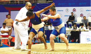 Mongolia claims the team silver medal at Sumo World Championships 2016