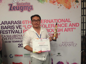 Painter S.MUNKHBAATAR wins Golden Brush prize in Turkey