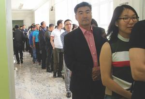 Voters' attendance at 55 percent nationwide