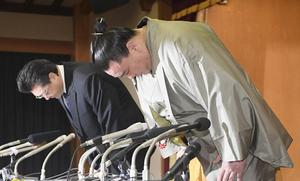 Harumafuji D.Byambadorj apologizes and announces retirement from sumo
